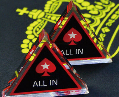 Texas Holdem Poker All In Button Triangle Acrylic  Poker Chip Limited Edition