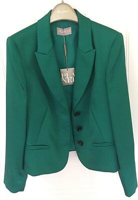 BNWT emerald green satin  jacket Blazer fits 8-12 UK size