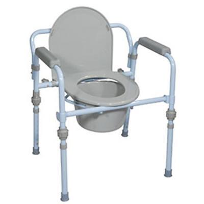 NEW DRIVE MEDICAL 763Xzl1 1 EA Folding Steel Commode RTL11148KDR