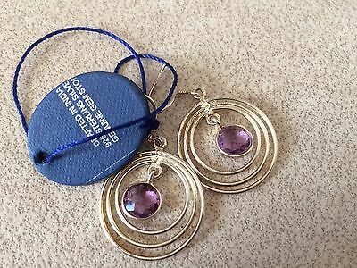 Earring Sterling Silver, Beautiful Earring  925 THE STON Amethyst