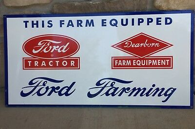 Vintage Ford Tractor Dearborn Farm Equipment sign
