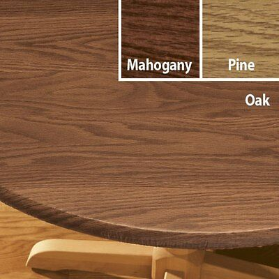 FITTED Vinyl Table Cover Wood Grain Round Oval/Oblong Backed Also CHERRY