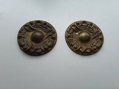 Pair of Brass Grandfather / Longcase Clock Case Rosettes