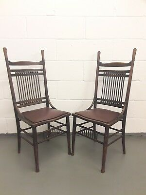 Pair of Arts and Crafts Chairs for Restoration