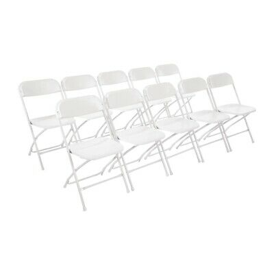 Bolero Folding Chair White (Pack of 10) (Pack of 10) (Next working day to UK)