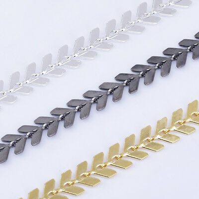 6*7mm Feathered Chevron Chain V shape chain Crafts Chain By THE YARD 102365