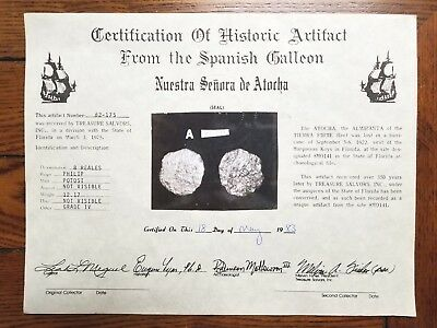 8 REALE Spanish Coin Silver Doubloon Gr IV-4 Mel Fisher Shipwreck Atocha Galleon