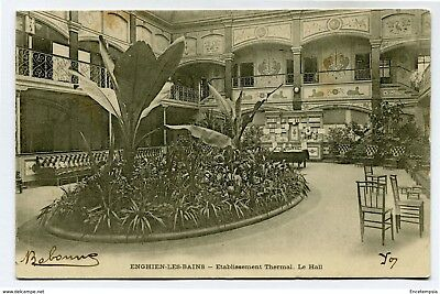CPA -Carte postale- FRANCE-Enghien les Bains - Etablissement Thermal - Le Hall -