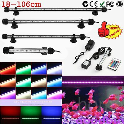 Aquarium Fish Tank LED SMD RGB Colors Light Bar Lamp Lighting Submersible RU