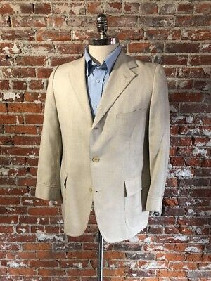 Mens Classic Vintage J. Press Ivory Abstract Lining 2-piece Suit Size 40S