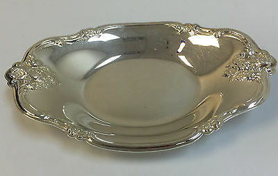 Vintage International Silver Company #448 Silver Plated Oval Nut/Candy Dish