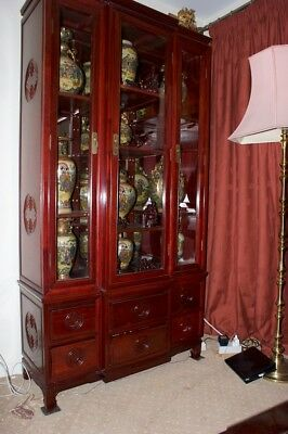 Chinese Wall Unit in Rose Wood