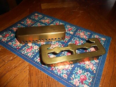 Antique brass dollhouse fireplace fenders pair for one money larger scale rare