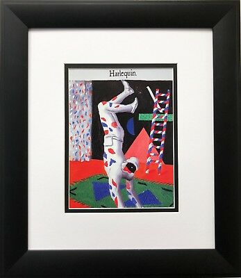 "David Hockney ""Harlequin"" Pop Art CUSTOM FRAMED British NEW"