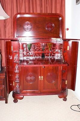 Chinese Cocktail Cabinet in Rose Wood