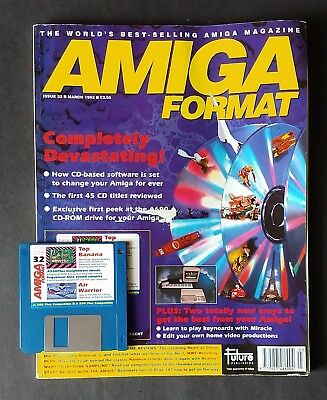 Amiga Format Issue 32 (March 1992) with cover disk