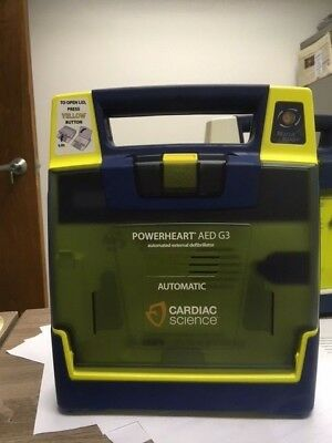 PowerHeart G3 Automatic AED w/ Case, New Pads and New Batt.
