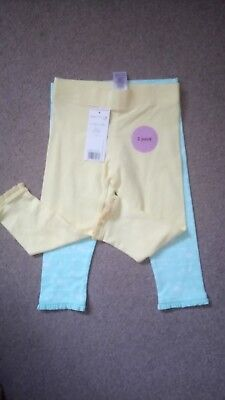 Baby Girls 2 Pack Of Summer Leggings Size 12-18 Months Bnwt