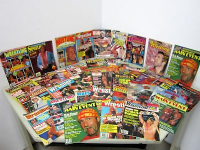 WRESTLING Magazines 1989-1993 WWF Wrestling Eye All Stars Illustrated Wrestler