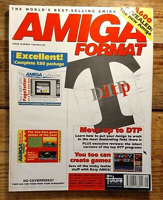 Amiga Format Issue 34 (May 1992) with cover disks