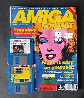 Amiga Format Issue 35 (June 1992) with cover disks