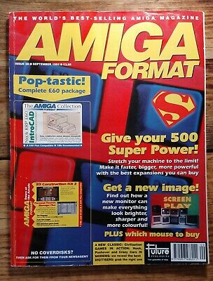 Amiga Format Issue 38 (September 1992) with cover disks