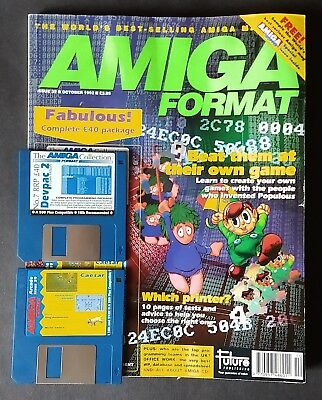 Amiga Format Issue 39 (October 1992) with cover disks