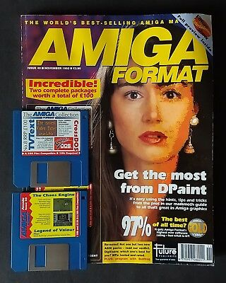 Amiga Format Issue 40 (November 1992) with cover disks