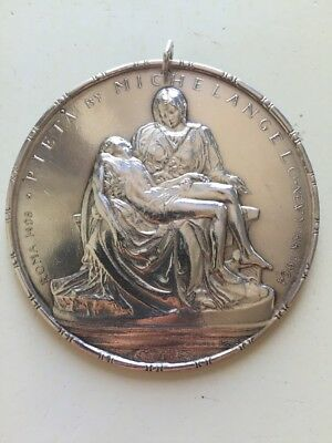 1964 Pieta By Michelangelo Towle Medallic Art Sterling Silver