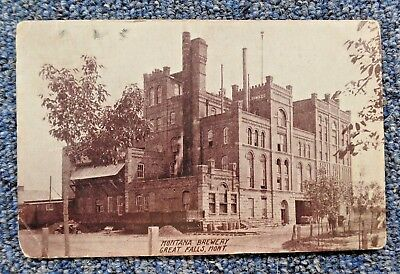 Montana Brewing Company Brewery, Great Falls 1909 Postcard - Pre-Prohibition