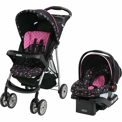 Graco LiteRider Click Connect Travel System Stroller, with SnugRide Click Con...