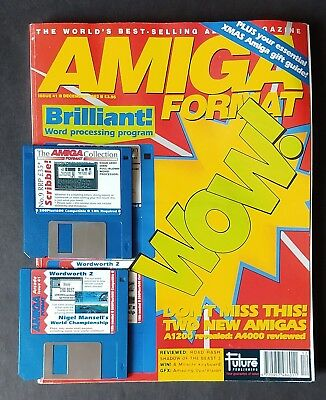 Amiga Format Issue 41 (December 1992) with cover disks