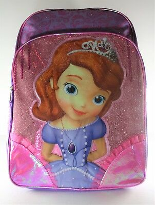 Disney s Sofia The First Light Up Backpack w  Front and Side Mesh Pockets -  16 5d3c2721ea8bb