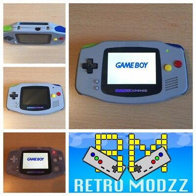 Nintendo Game Boy Advance GBA SFC Handheld Console AGS-101 Backlight Overclock