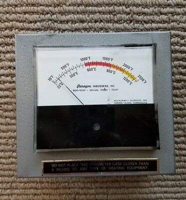 Paragon Analog Pyrometer with Shielded Meter For Use with a Kiln