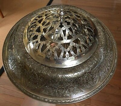 Flower Arranging Frog Antique 1920s Halloware Silverplate Dish Wilcox Silver Co