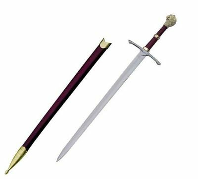 """39"""" Medieval Templar Knight Crusader Sword with Lion Head Handle Brand New"""