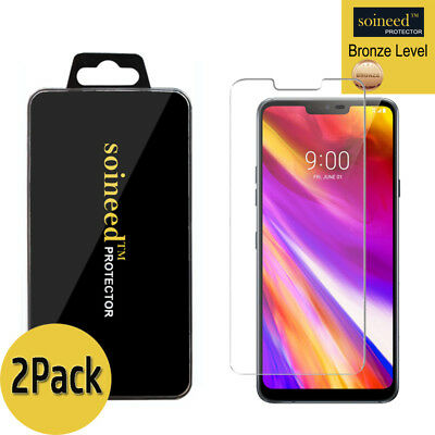 [2-Pack] SOINEED Tempered Glass Screen Saver Protector For LG G7 ThinQ