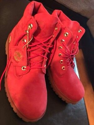 Womens Timberland Boots Red Limited Edition Size 8