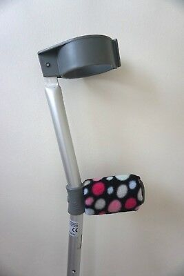 Crutch Handle Padded Covers HIGH QUALITY Cushioned Foam Pad  - Pink Rainbow Spot