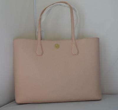 50e46006388c AUTH  395 NWT TORY BURCH Brody Pebbled Leather Tote Shoulder Bag Light Oak