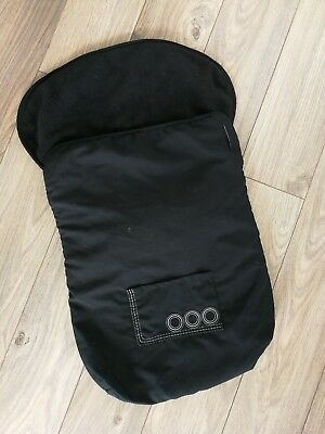 Universal Cosytoes in black for buggy, car seat. fleece lined