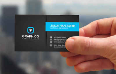 Professional Business Card Design + Unlimited Revision   No Logo