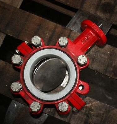 "BRAY CONTROLS Lugged Butterfly Valve 4"" inch DN100 100mm with PTFE liner"