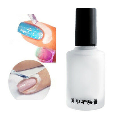 15ml White Peel Off Liquid Base Cream Nail Polish Separating Palisade Tool 32CF
