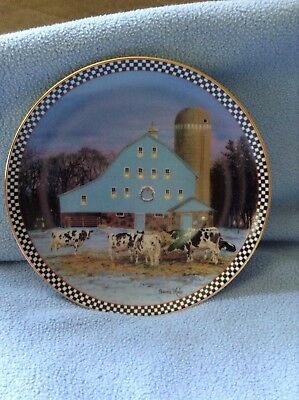 All Is Calm Farmstead Reflections Collectible Plate Danbury Mint