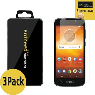 [3-Pack] SOINEED Tempered Glass Screen Protector Film For Motorola Moto E5 Play