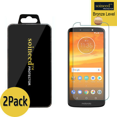 [2-Pack] SOINEED Tempered Glass Screen Protector Film For Motorola Moto E5 Plus