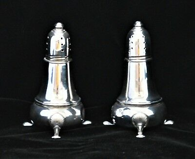 Vintage National Sterling Company Silver Footed Salt & Pepper Shakers