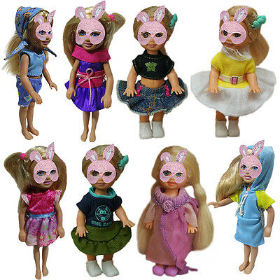 Dolls Clothes Dress Skirt Hoodie for 4'' Doll Kids Toy Gift Fine Clothing Kit